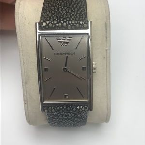 Emporio Armani stingray leather watch
